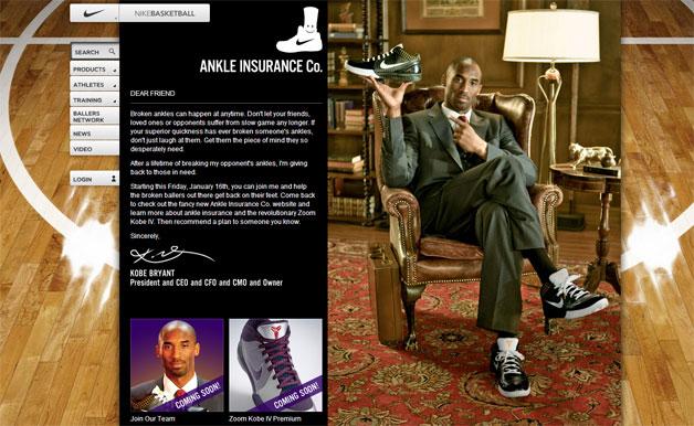 Kobe Bryant Nike Ankle Insurance