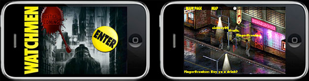 Watchmen app game iphone ipod