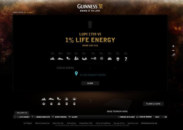 Guinness Bring It To Life Planets