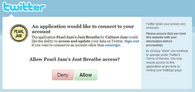 Pearl Jam Twitter