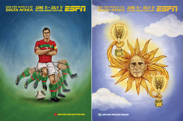 ESPN Murals World Cup Africa Art