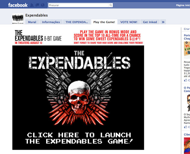 Expendables Facebook Game