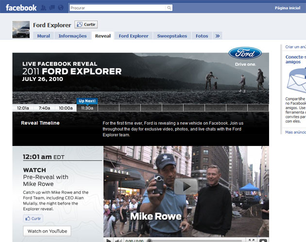 Ford Facebook Reveal