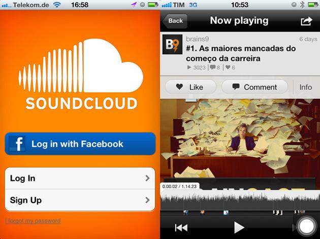 Capa - Ouça o  no seu smartphone com o app do SoundCloud