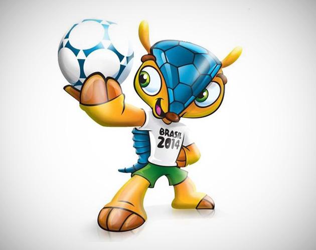 Tatu Bola Mascote Copa 2014