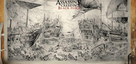 Assassins Creed IV Black Flag Painting