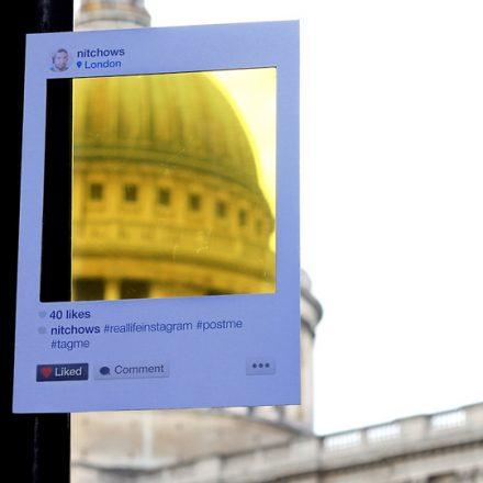5739bfb78ccd9 Projeto do brasileiro Bruno Ribeiro espalha filtros de papel pela cidade  imitando o Instagram