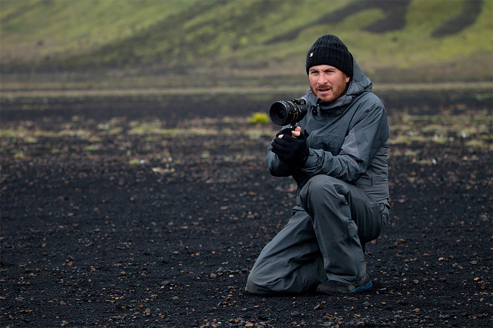 Darren Aronofsky no set