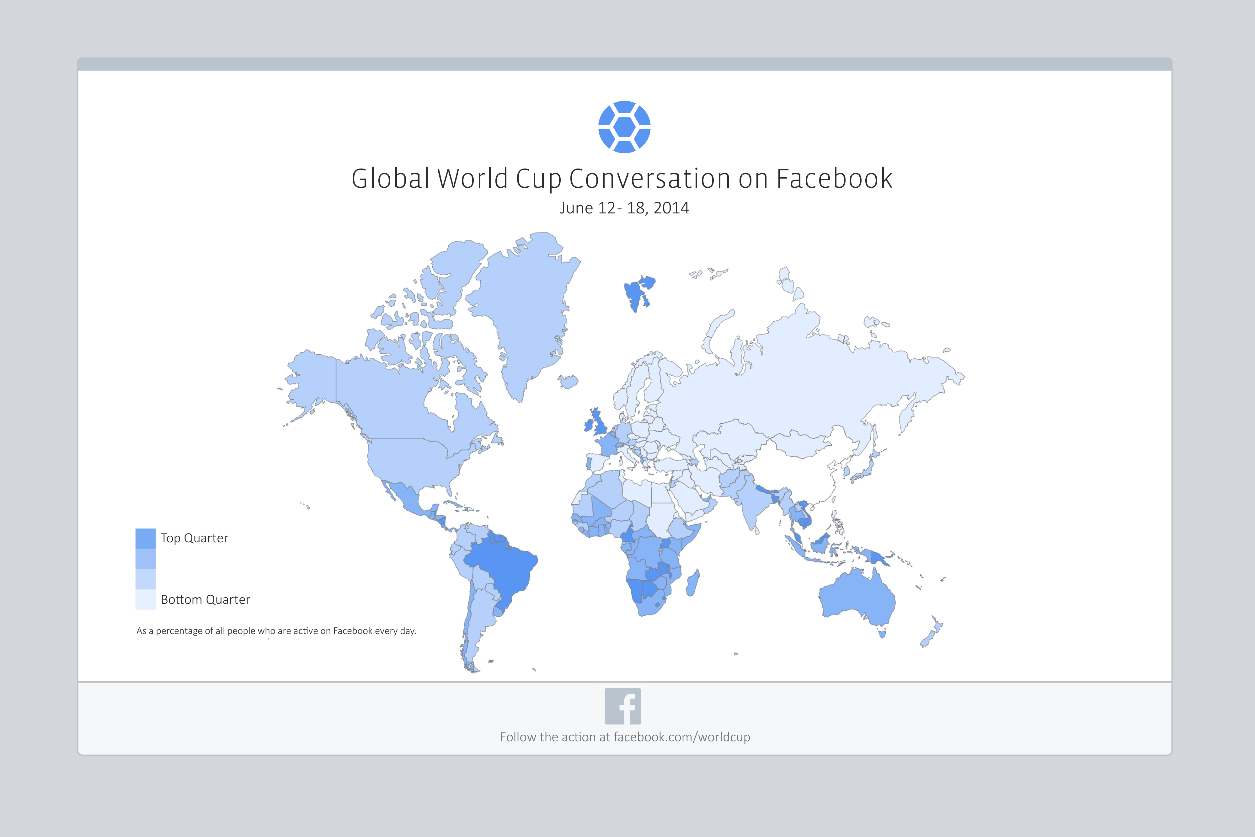 World Cup on Facebook Global Map