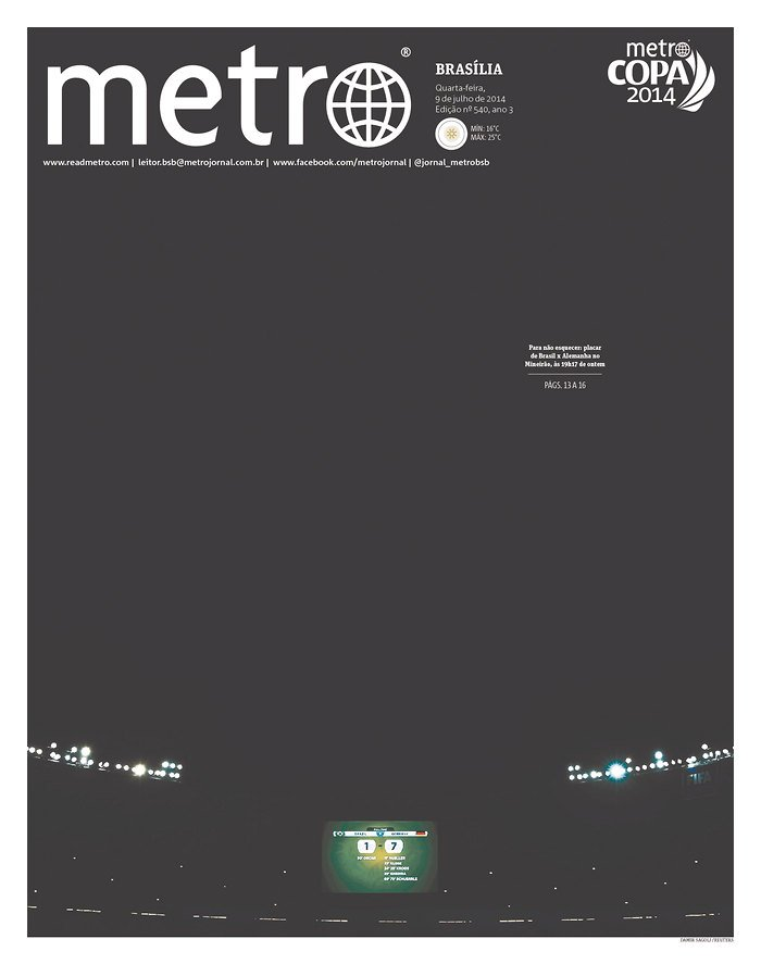 16 - This Metro cover is the same on every Brazilian edition of Metro today - at least 7 major cities