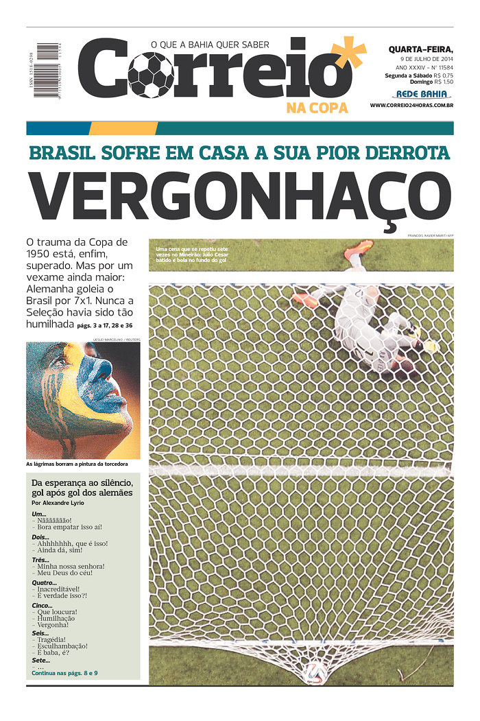 41 - Brazil suffers at home its worst defeat - Disgraceful