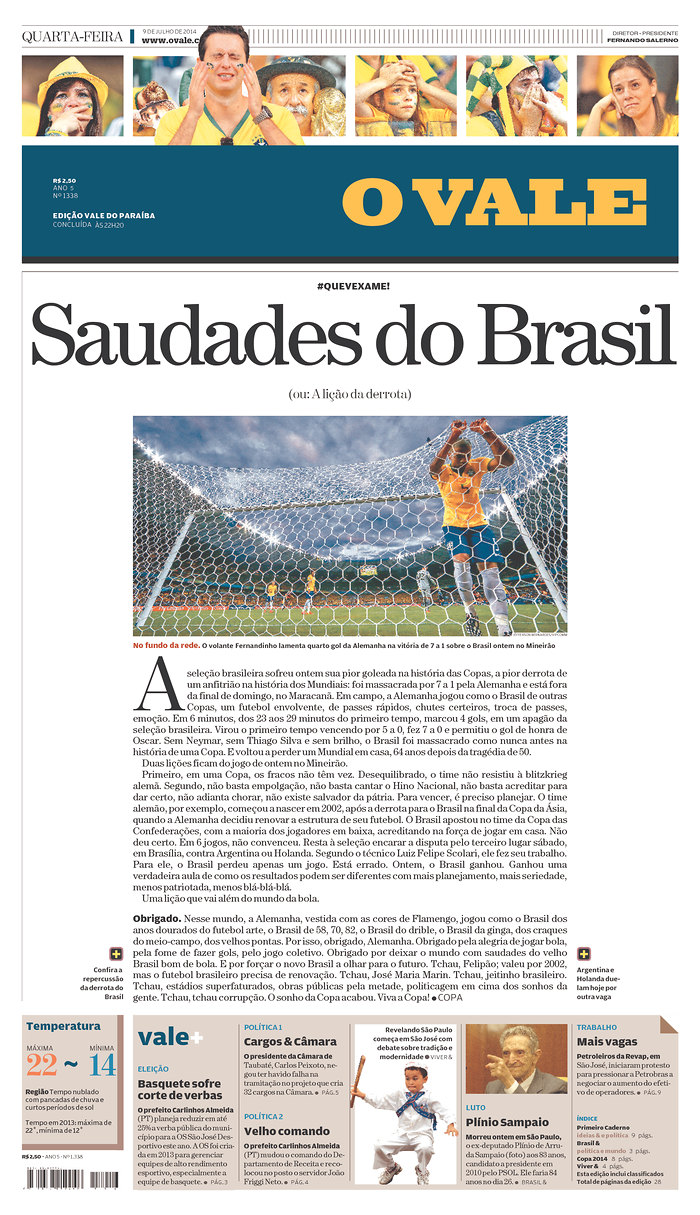 45 - Longings from Brazil or A lesson in defeat