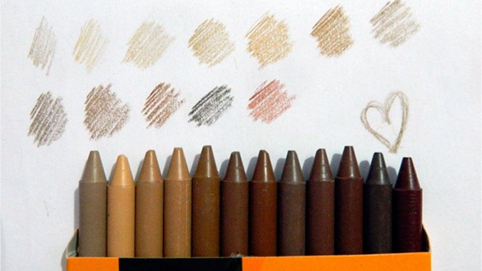 Giz de Cera de fabricante brasileira traz 12 cores de pele para a