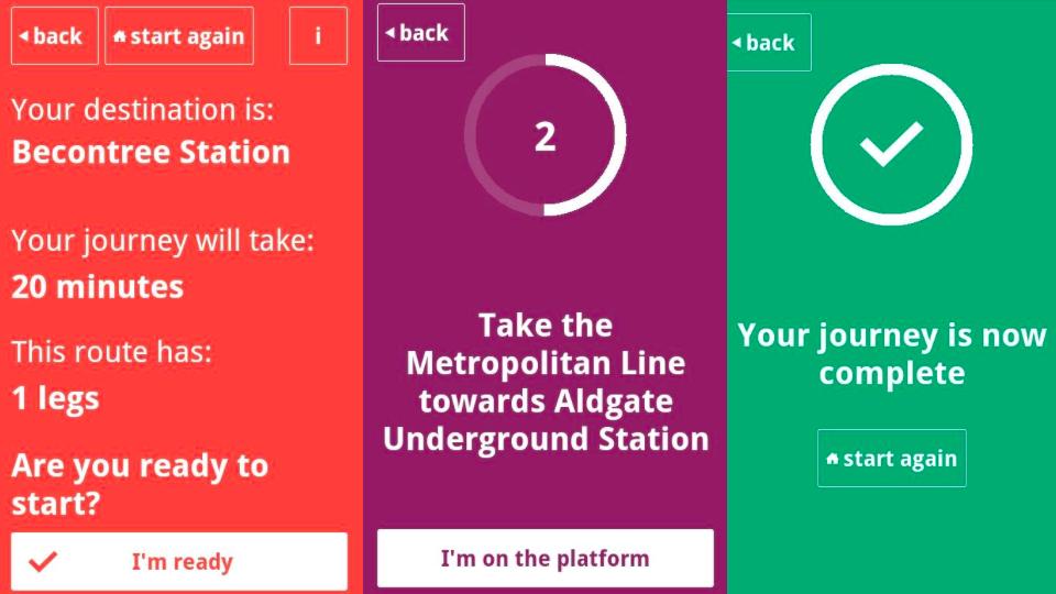 Protótipo do app em Android
