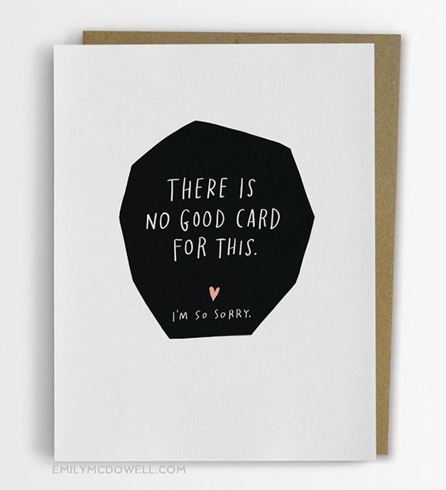 """""""Não existe um bom cartão para isso. Eu sinto muito"""""""