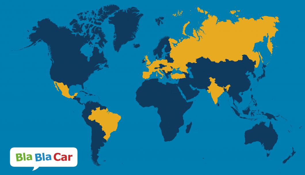 BlaBlaCar - mapa