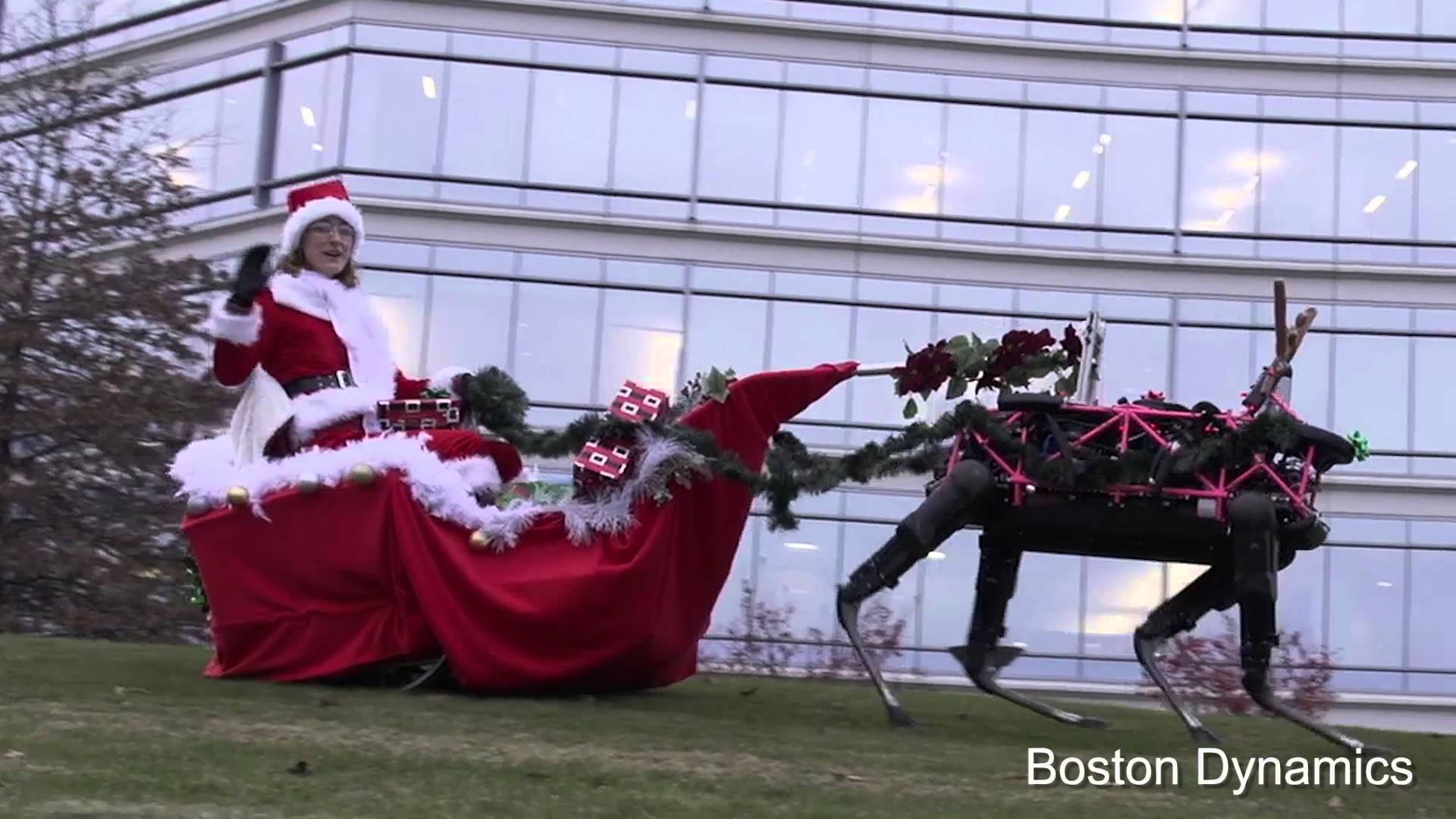 Robôs tomam o lugar das renas do Papai Noel em mensagem da Boston Dynamics