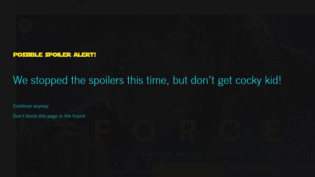 Evite Potenciais Spoilers De Star Wars Com Esta Extensao Para Chrome