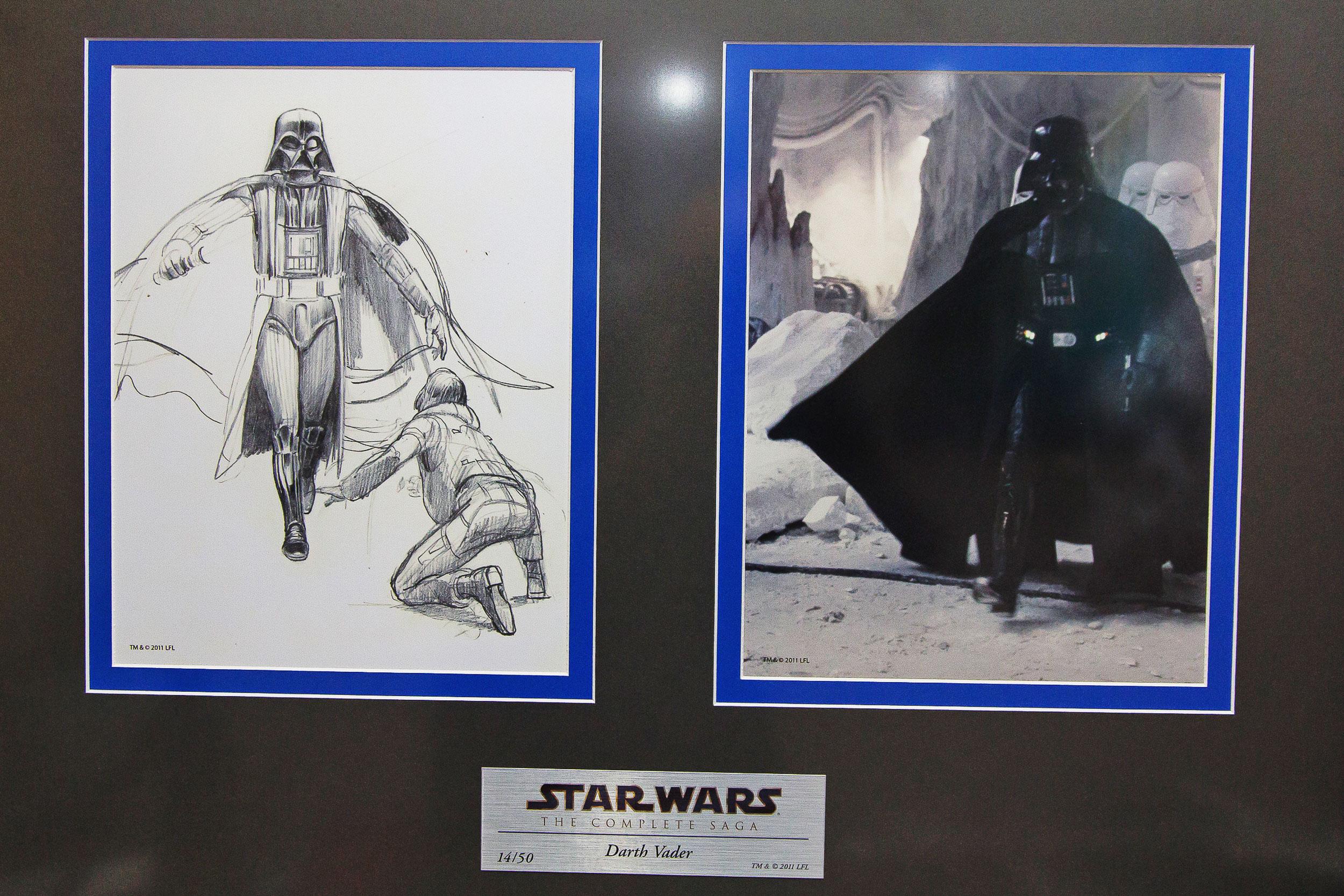 Desenho original de Ralph McQuarrie, o designer de Star Wars