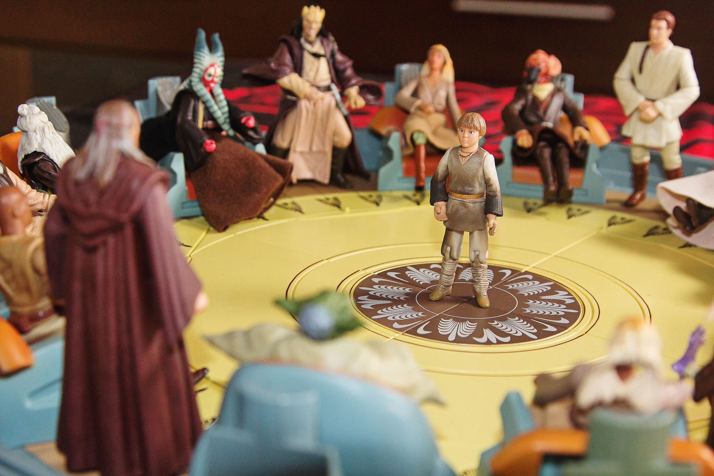 O Conselho Jedi completo em diorama que fica na sala do colecionador
