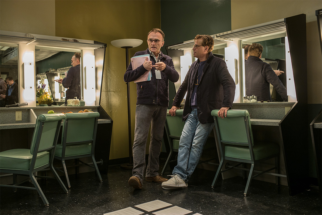 Danny Boyle e Aaron Sorkin no set