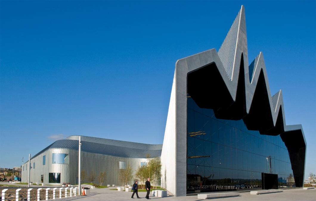 Museu de arte de Riverside, localizado na cidade de Glasgow, na Escócia.