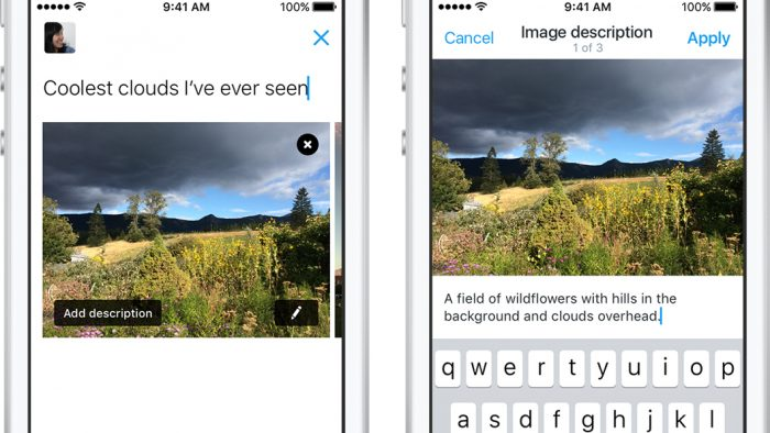 cdcf3a6d09e Descrição de imagens a deficientes visuais ganha um campo dedicado nos  aplicativos