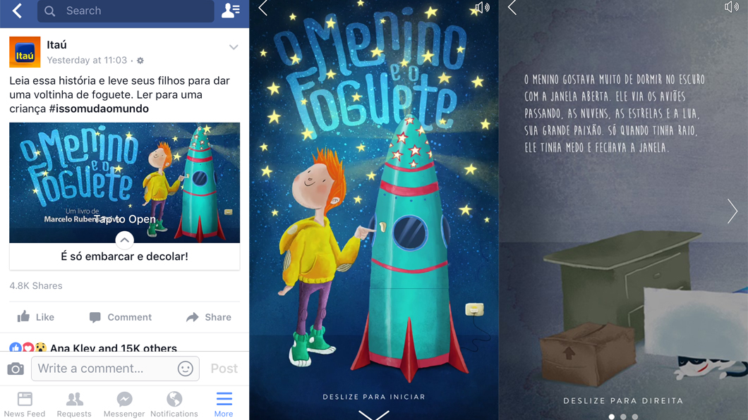 Itaú usa Facebook Canvas para criar livro digital