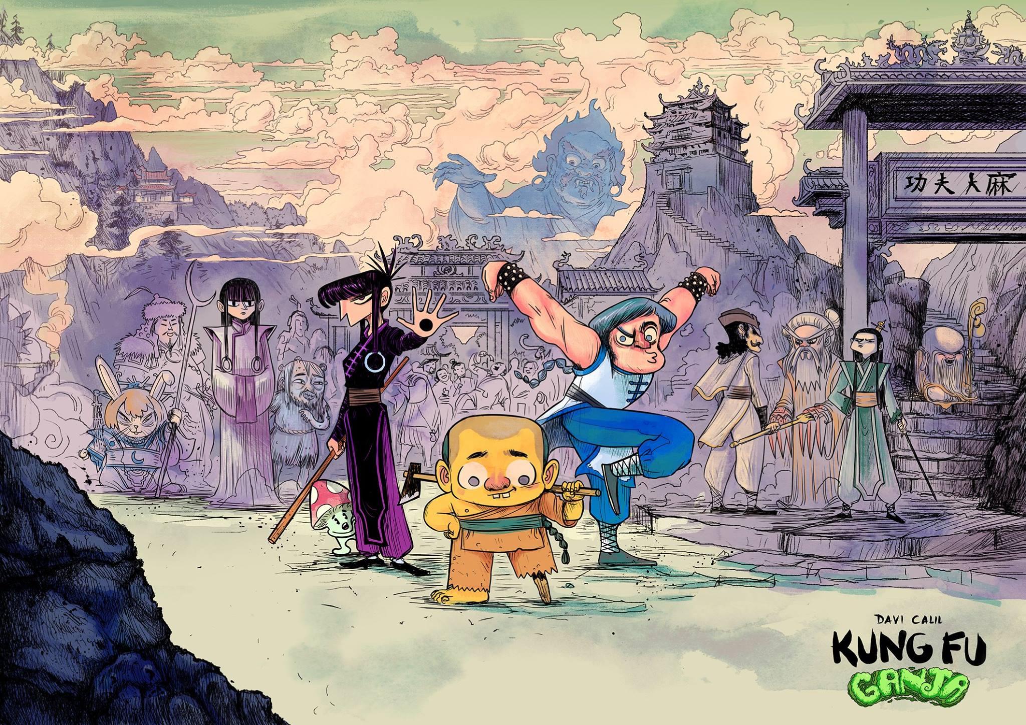 Kung Fu Ganja, por Davi Calil