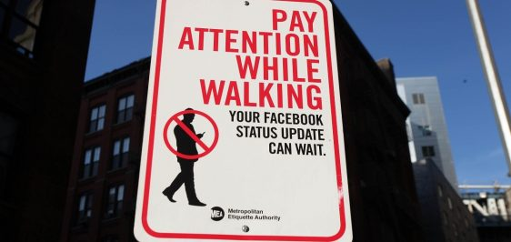 Road Signs Warn Citizens Of Mobile Social Networking