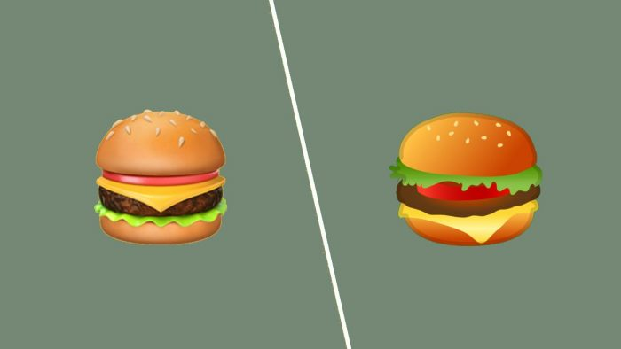 google-apple-hamburger-emoji