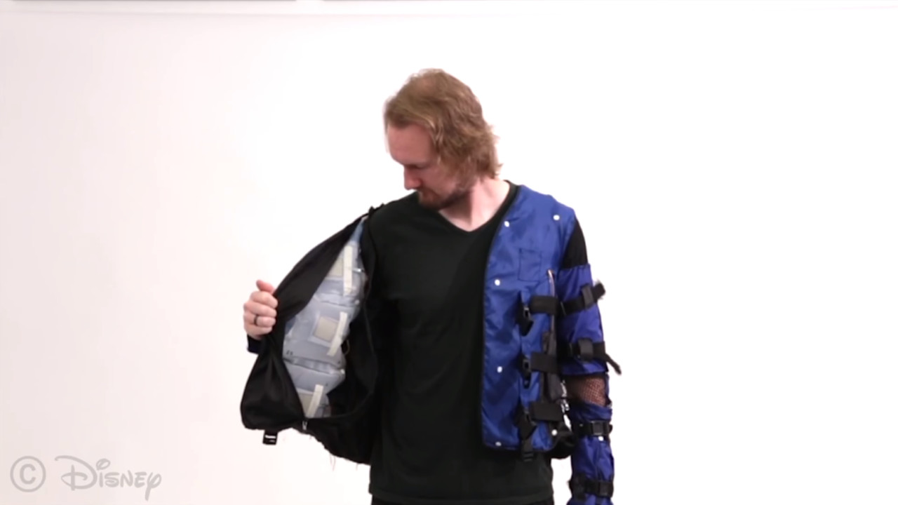 A Disney desenvolveu uma jaqueta que simula sensações físicas