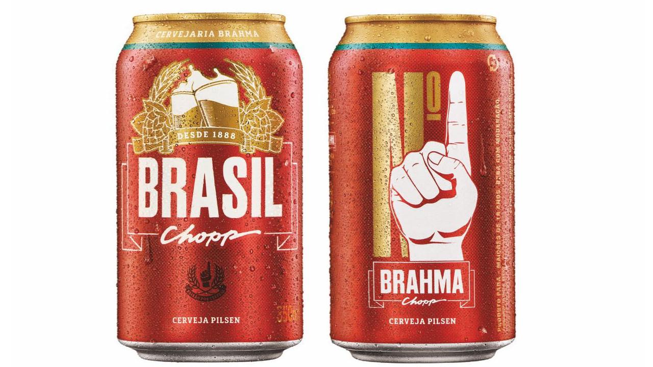 A cerveja que ocupa o topo das bebidas  Brahma-Brasil