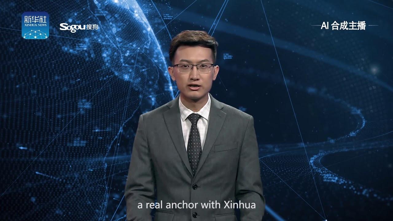 China cria seu primeiro âncora de jornal não-humano usando inteligência artificial