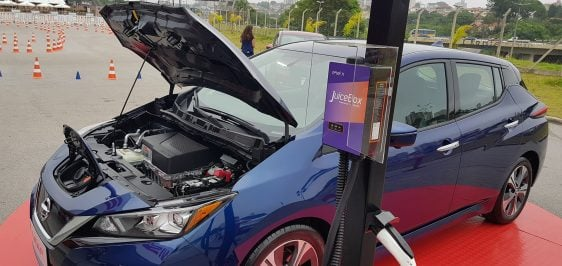 Nissan Leaf e Enel X JuiceBox