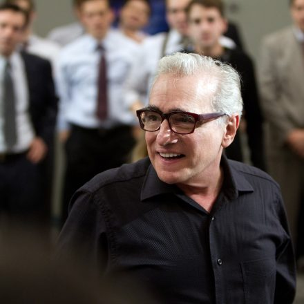 THE WOLF OF WALL STREET, director Martin Scorsese, on set, 2013. ph: Mary Cybulski/©Paramount Pictur