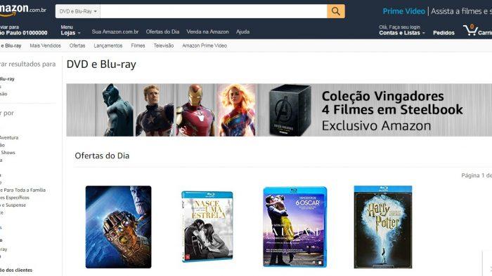 Amazon começa a vender DVDs, Blu-Rays, CDs e discos de vinil no Brasil