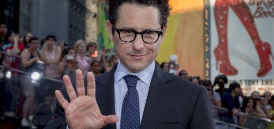 "Producer and director J.J. Abrams poses on the red carpet for a screening of the film ""Mission Impossible: Rogue Nation"" in New York"