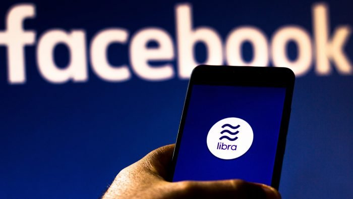 In this photo illustration the Facebook Libra logo is seen