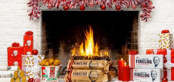 Para o Natal, KFC venderá lenha para fogueira com cheiro de frango