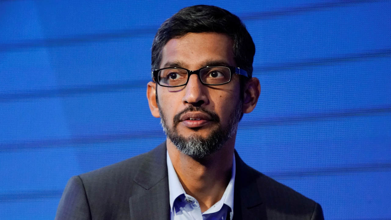 Sundar Pichai, Chief Executive Officer of Google, attends the World Economic Forum (WEF) annual meeting in Davos
