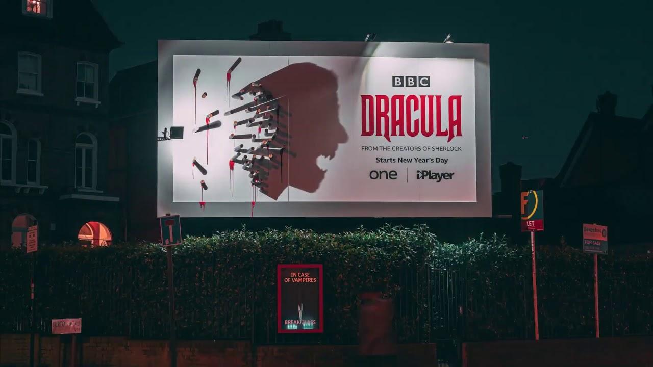 """Para divulgação de """"Drácula"""", outdoors mostram o vampiro só à noite"""