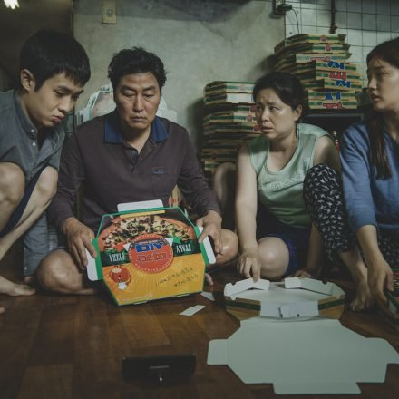 The-Kim-Family-Woo-sik-Choi-Kang-ho-Song-Hye-jin-Jang-So-dam-Park-in-Parasite.-Courtesy-of-NEON-CJ-Entertainment