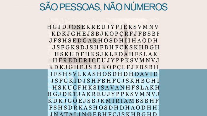 FINITUDE – SÃO PESSOAS, NÃO NÚMEROS