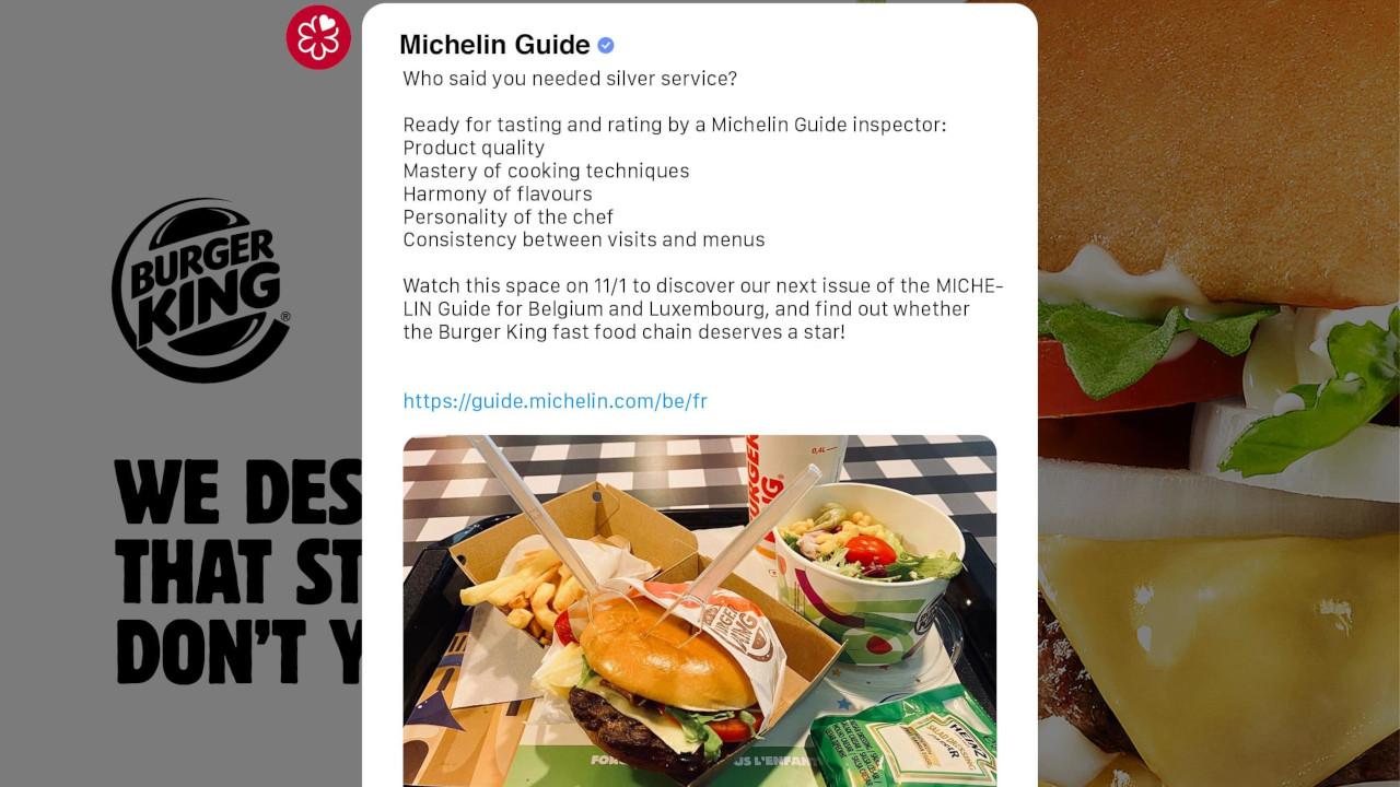 Burger King da Bélgica quer ganhar uma estrela Michelin