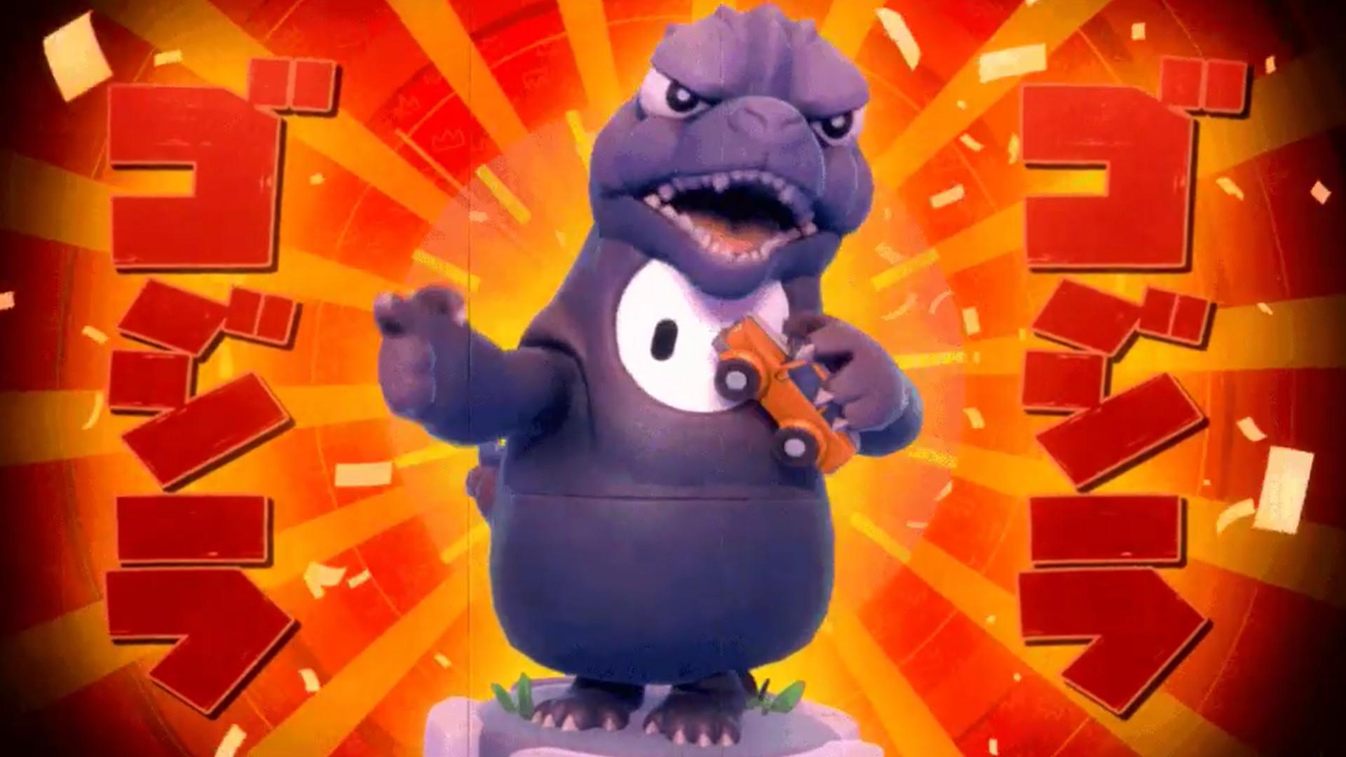 """Agora dá pra jogar de Godzilla em """"Fall Guys"""""""