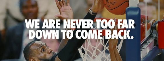 Never Too Far Down – You Can't Stop Us by Nike
