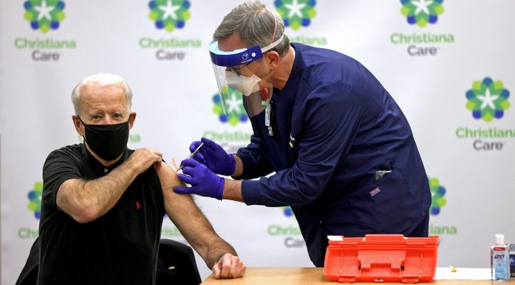 Image: President-Elect Biden And Vice President-Elect Harris Receive Second Round Of COVID-19 Vaccination