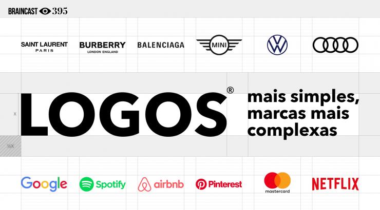 Braincast 395 – Logos mais simples, marcas mais complexas
