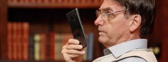 26/01/2019 Presidente da República Jair Bolsonaro conversa por